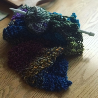 Blog Photos 2-26-18 Knitting scarf